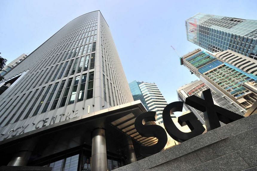 SGX Centre 1 (left) at Shenton Way Road in the Raffles Place District.