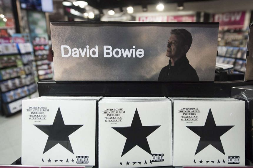 Copies of Blackstar, the late David Bowie's latest album, are on sale in a branch of HMV in central London on Monday.