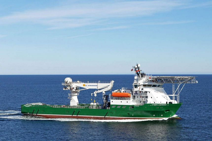 The Havila Harmony, one of three ships searching for the remains of missing Malaysia Airlines flight MH370.