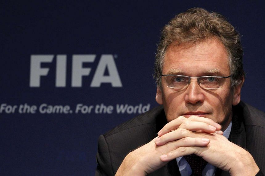 Jerome Valcke attending a news conference after the meeting of the Ethics Committee in Zurich on Nov 18, 2010.