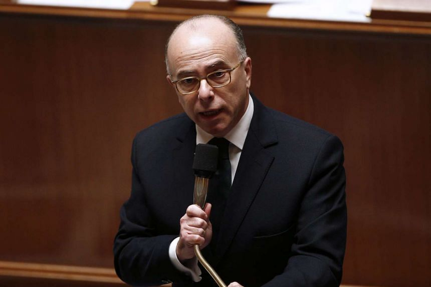 French Interior Minister Bernard Cazeneuve speaks at the French National Assembly on Jan 12, 2016.