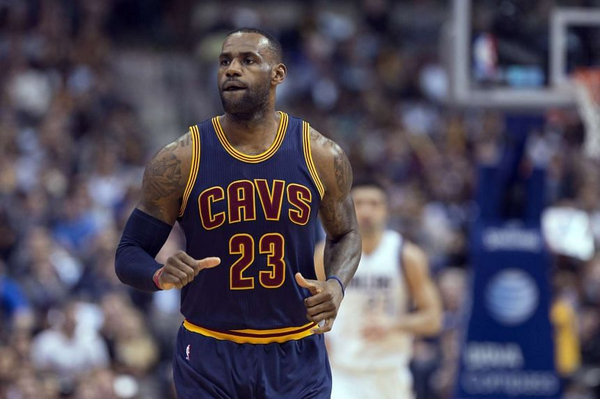 Cleveland Cavaliers' LeBron James during their match against the Dallas Mavericks at the American Airlines Center.