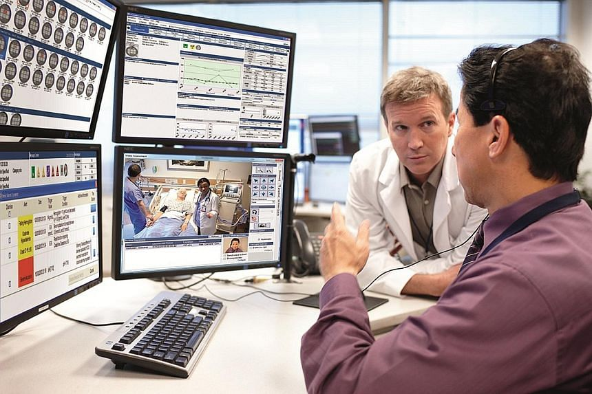 Philips has experience dealing in products such as the eICU solution (left), where patients can be monitored remotely from a telehealth centre.