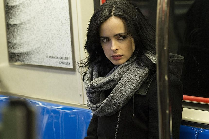 Krysten Ritter as private eye Jessica Jones who is leery of the world.