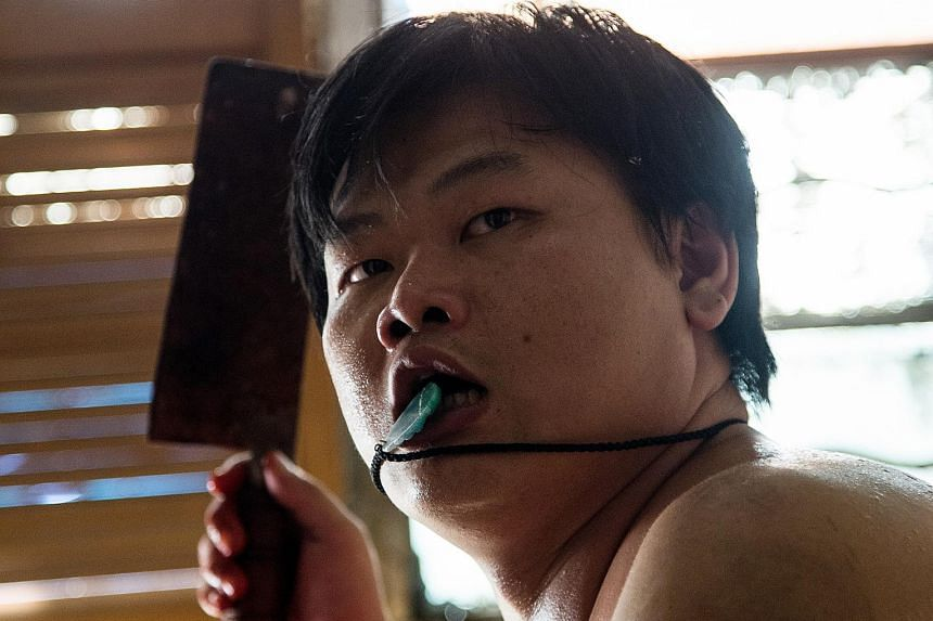 Stage actor Michael Ning (above) says he looks exactly like the real killer.