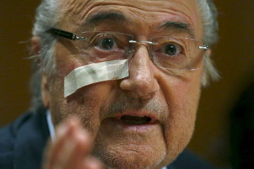 Fifa's suspended president Sepp Blatter at a news conference in Zurich, Switzerland on Dec 21, 2015.