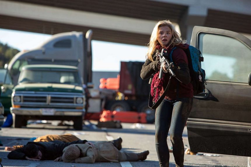 Young actress Chloe Grace Moretz in a scene from the young-adult science fiction film The 5th Wave.