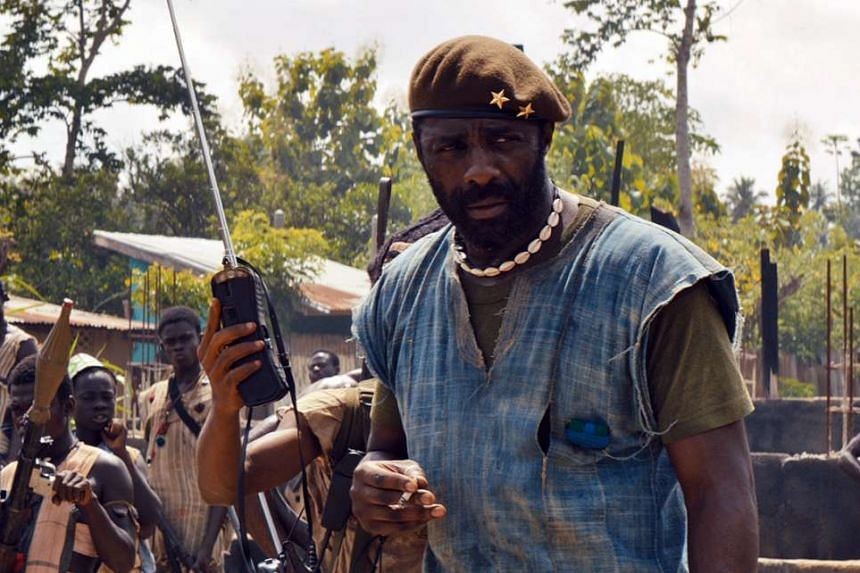 Actor Idris Elba is magnificent as the Commandant in Beasts Of No Nation.