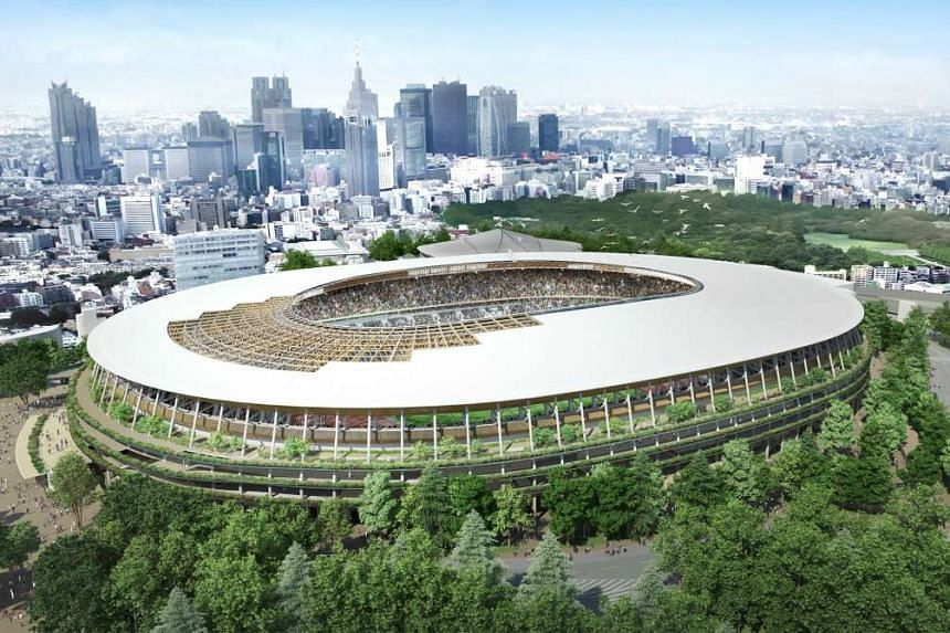 Japan's proposed national stadium design for the upcoming 2016 Olympic Games.