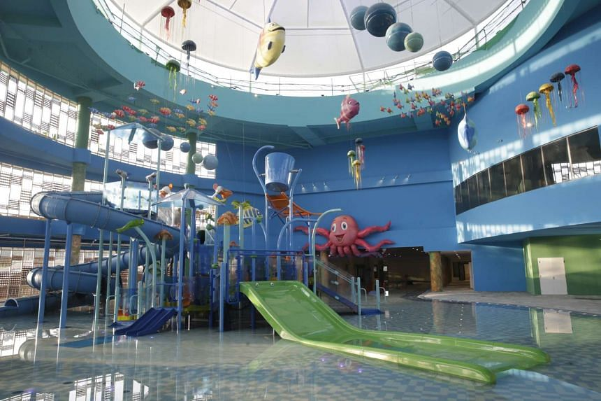 The three-storey indoor water playground at Safra Punggol, which is slated for completion in April 2016.