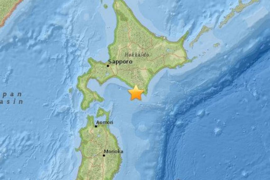 A magnitude 6.7 earthquake struck just off Japan's northernmost main island of Hokkaido on Jan 14, 2016.