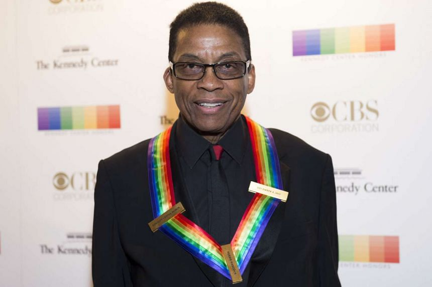 Herbie Hancock poses on the red carpet before the 38th Annual Kennedy Center Honours on Dec 6, 2015 in Washington, DC.