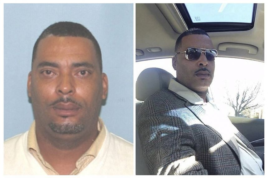 """Donald """"Chip"""" Pugh is pictured in an undated booking photo (left), and in a selfie, provided by the Lima Police Department in Lima, Ohio on Tuesday."""