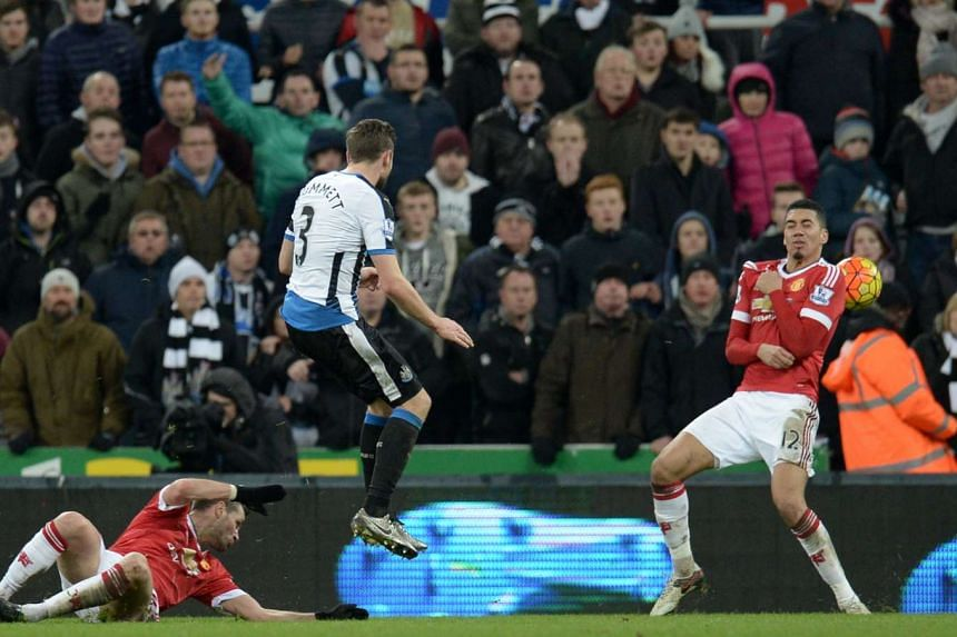 Newcastle's Welsh defender Paul Dummett's shot deflecting off Manchester United's English defender Chris Smalling which helped the hosts equalise at 3-3, which was the final score at St James' Park. United drop to sixth while the Magpies stay in the
