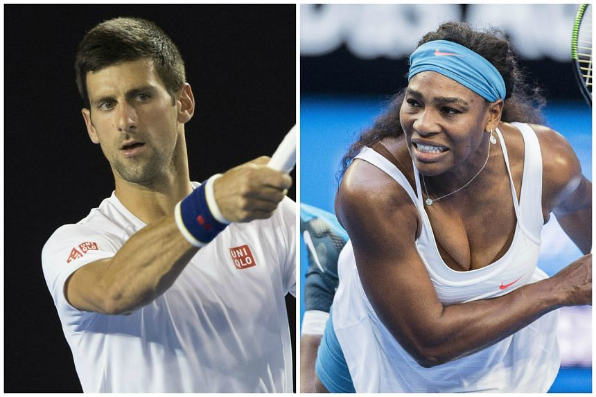 Novak Djokovic and Serena Williams were named top seeds for next week's Australian Open.