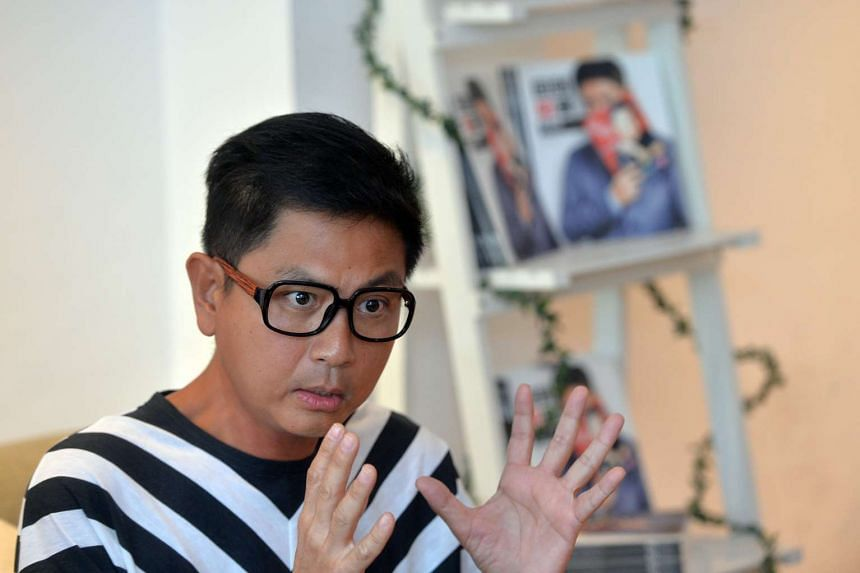 Local actor Chew Chor Meng at the release of his biography.