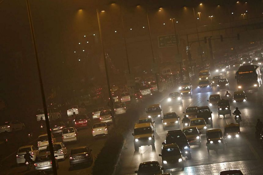 Thick smog in New Delhi, India, on Jan 13, 2016.