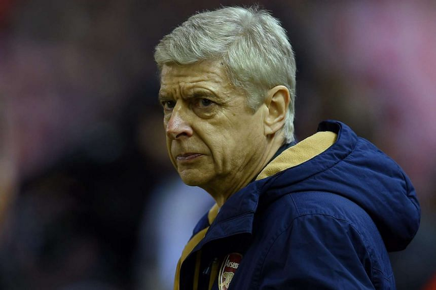 Arsenal manager Arsene Wenger reacts during the match between Liverpool and Arsenal on Jan 13, 2016.