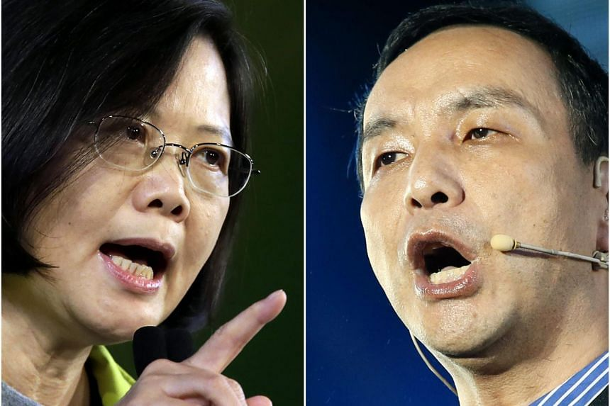 Tens of thousands are expected at tonight's rallies for the two main candidates, Ms Tsai Ing-wen of the DPP and Mr Eric Chu of the KMT.