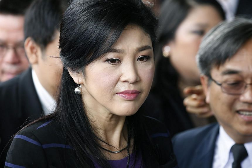 Former Thai PM Yingluck Shinawatra arriving at the Supreme Court on Jan 15, 2016.