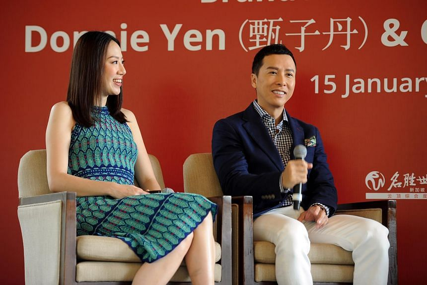 Ip Man star Donnie Yen (right) and his wife Cecilia Wang.