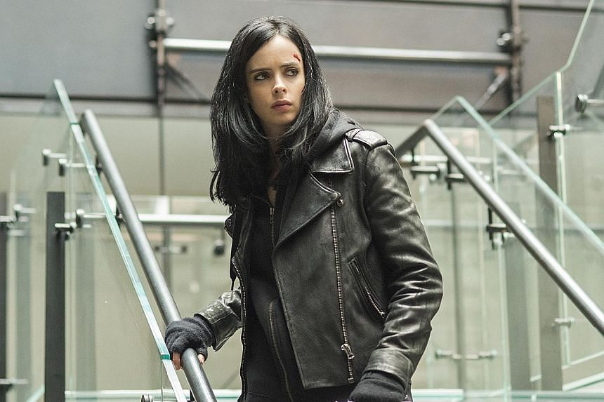 It costs between $11 and $17 a month to access the Netflix library, which has shows such as superhero series Jessica Jones starring Krysten Ritter.