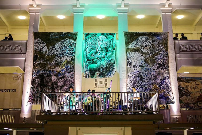 Catch live gigs in between viewing art at Gillman Barracks (above) or head to The Courtyard at the Singapore Art Museum where DJs will spin music.