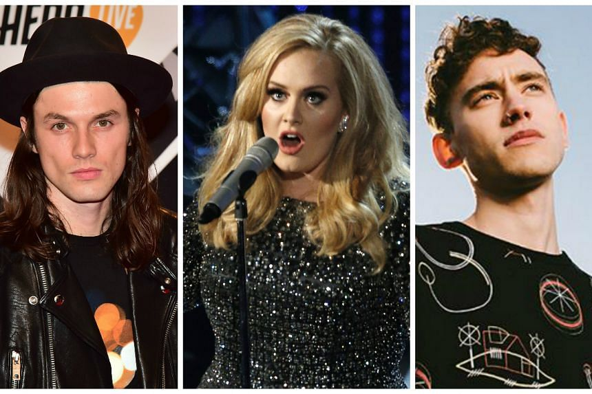 (From left) James Bay, Adele and Years and Years lead the Brit pack with four nominations each.