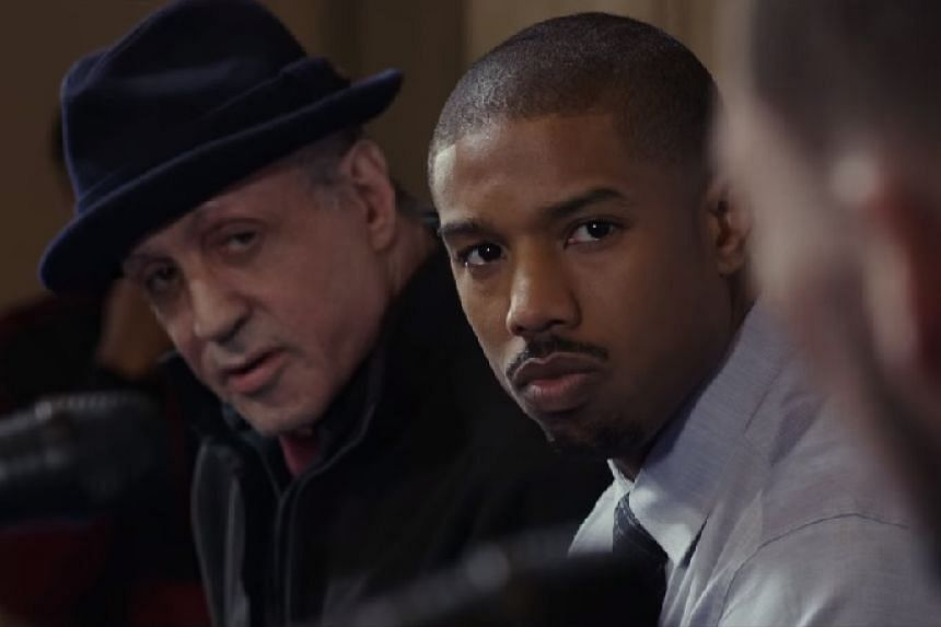 Sylvester Stallone (left, in a trailer screenshot) received a nomination for Creed.