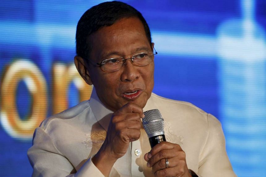 Philippine Vice-President Jejomar Binay speaks during a business forum in Manila on Oct 27, 2015.
