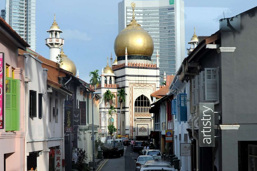 The Sultan Mosque in Kampong Glam.