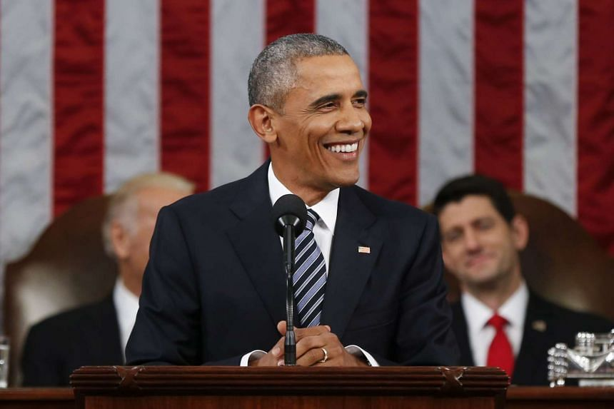 President Barack Obama delivering his State of the Union address on Jan 12, 2016.