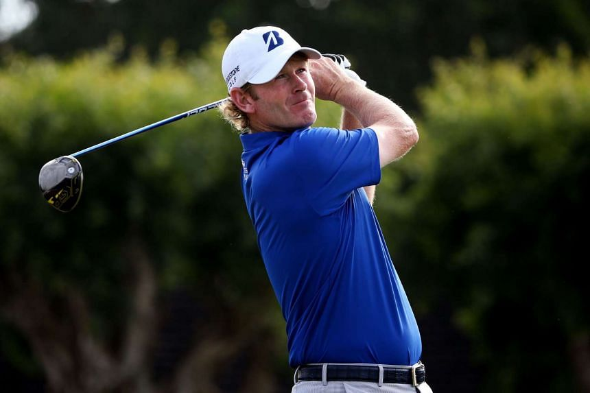 Brandt Snedeker plays his shot from the 16th tee during the second round of the Sony Open In Hawaii.
