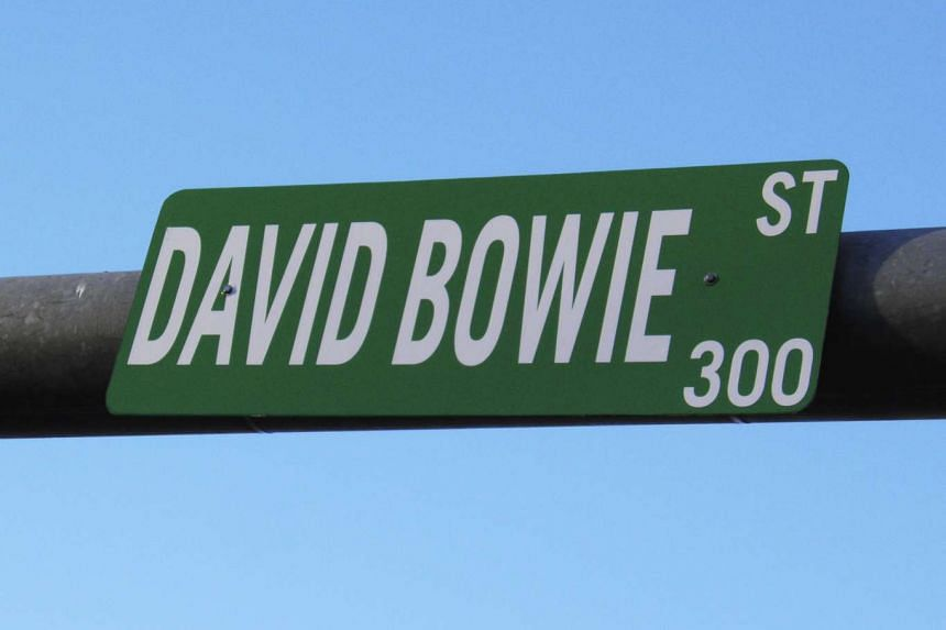"A sign for Bowie Street in the Texas capital of Austin has been changed to ""David Bowie Street""."