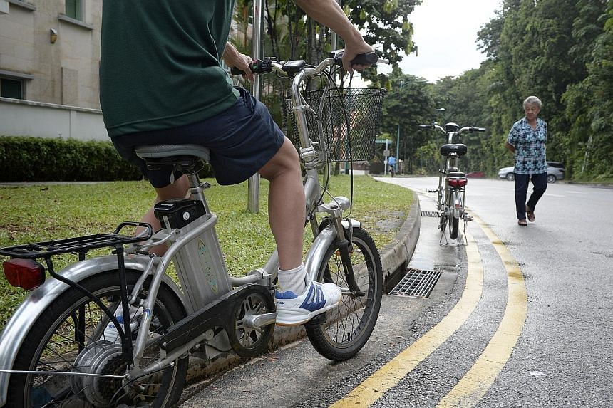 LTA bans the use of a throttle to help riders to move at a maximum speed of 6kmh without pedalling. It says such a start-up feature could be illegally modified for the PAB to travel faster than 6kmh without pedalling.
