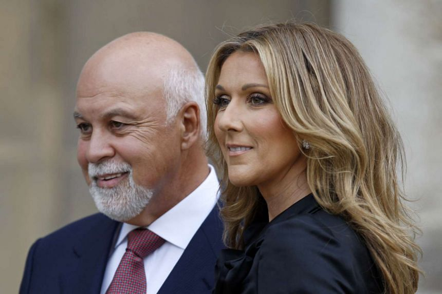 Dion with husband Rene Angelil in a 2008 file photo.