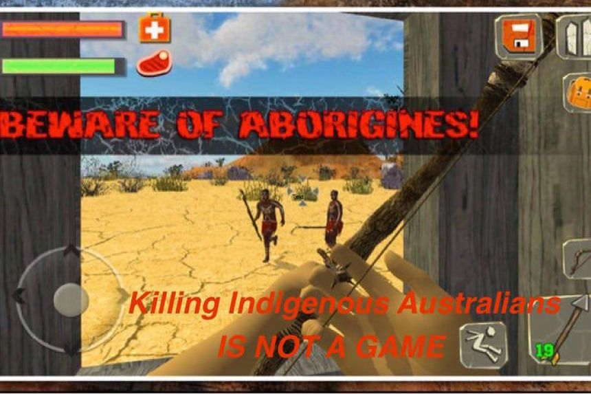 """The change.org petition called for the app to be pulled from mobile stores, adding that """"killing indigenous Australians is not a game""""."""