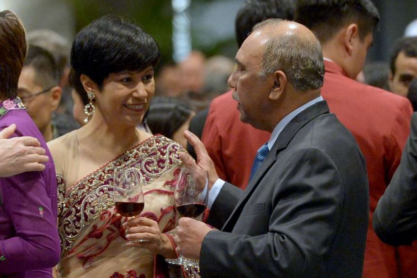 Senior minister of state Indranee Rajah and former MP S. Chandra Das, who is now Singapore's Non-Resident High Commissioner to Sri Lanka.