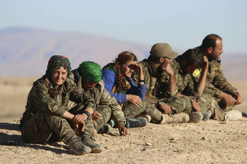 Kurdish fighters in Syria in a Nov 14, 2015, file photo.