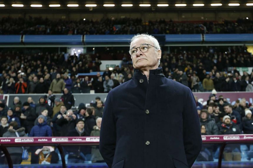 Leicester City manager Claudio Ranieri before their match against Aston Villa.