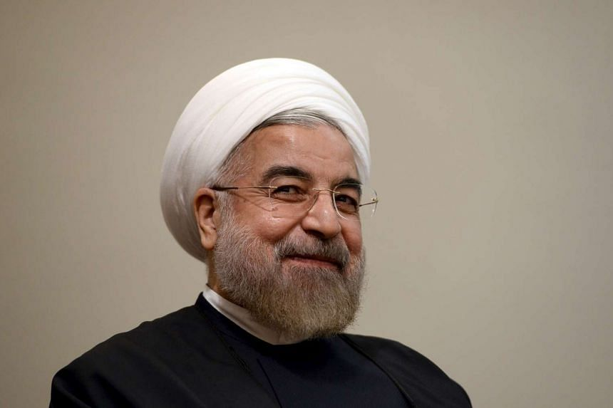 Iran's President Hassan Rouhani listens during a meeting with UN Secretary-General Ban Ki Moon.