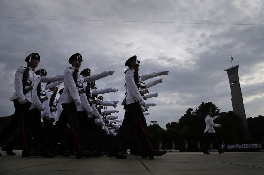 The 99/15 Officer Cadet Course Commissioning Parade on Jan 17, 2016 at Safti Military Institute.