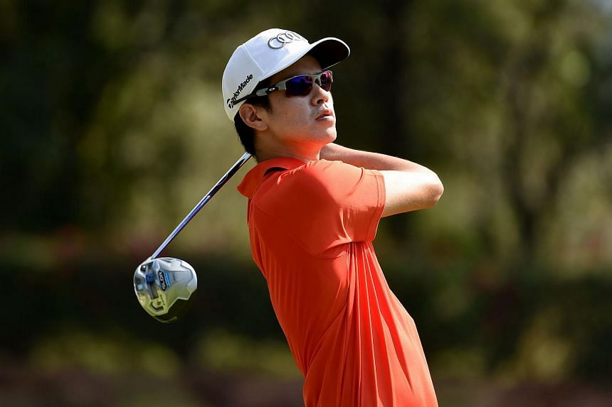 Singapore golfer Quincy Quek at the Asian Tour on Jan 13, 2016.