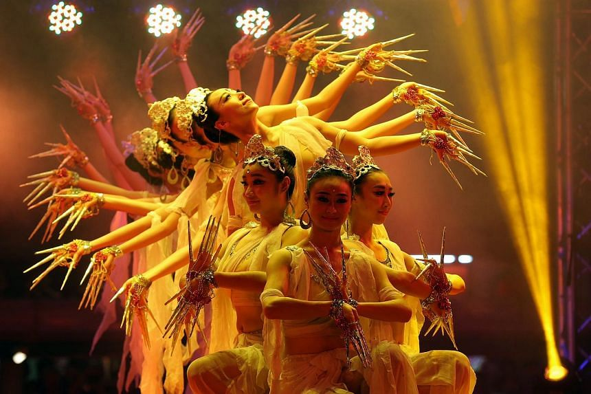 The opening ceremony of the Chinatown Chinese New Year Celebrations 2016 sees entertaining performances by local and foreign troupes.