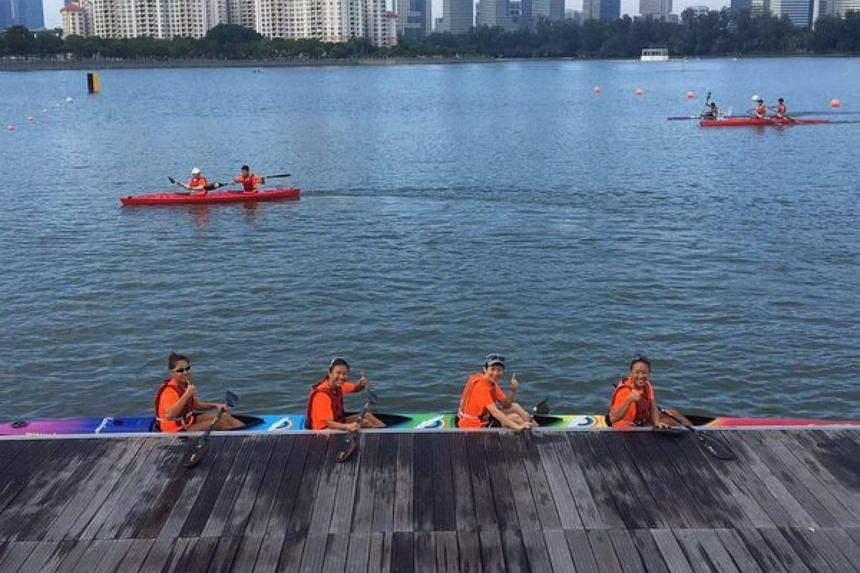 A record 700 competitors took to the waters off the Sports Hub in Kallang on Sunday morning for the 2016 Singapore Canoe Marathon.