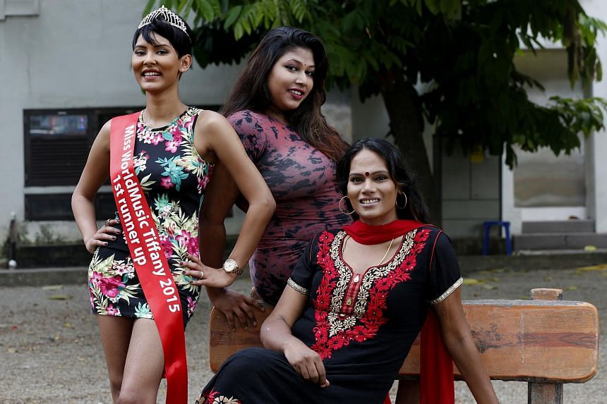(From left) Ms Neha Nicole Hussin, the first runner-up in the contest last year, Ranjana Tanggaraju, director at Pravinaa Productions and Sonia Pravinaa, the firm's founder.