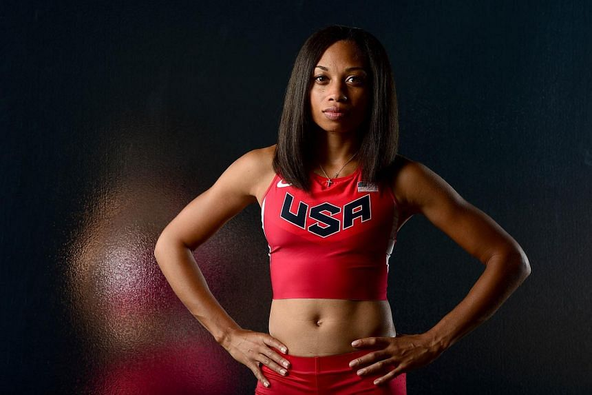 Allyson Felix poses for a portrait at the USOC Rio Olympics Shoot.