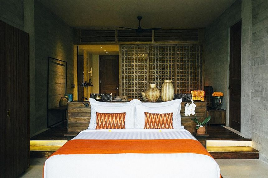 The Forest Suite at the Bisma Eight resort in Ubud, Bali.