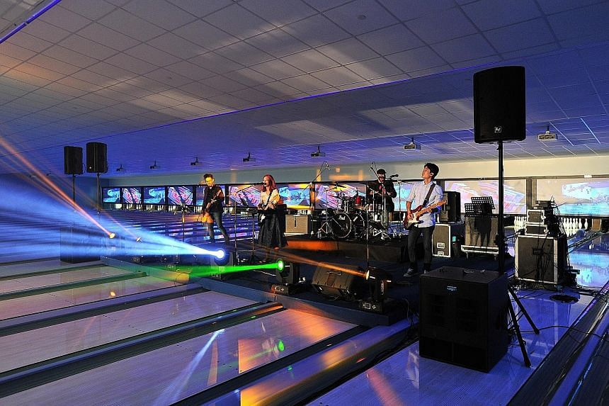 It is opening night but a band playing while bowlers try to knock down pins could be a distinct possibility at corporate functions in future.