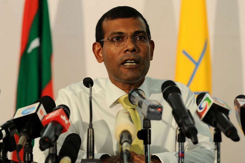 Nasheed (above) is serving a 13-year sentence on terrorism charges after a much-criticised trial.